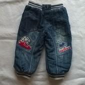 Утеплённые джинсы для двора