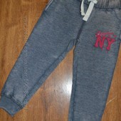 Спортивные штаны с начесом. Размер 3-4 и 5-6 лет.