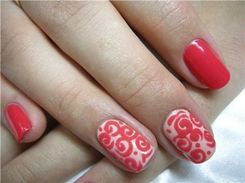 Дизайн для ногтей с бархатным песком