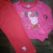 Пижама хлопок свинка Пеппа на 4-5лет(104-110см)!