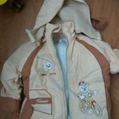 куртка демисезонная на три, четыре года, рукав 33см