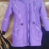 Ветровка-пальто для девочки до 7 лет