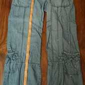 Легкие брюки, шорты, лет.джинсы. на 12-14 р. пот 43-44см, поб 54-55см