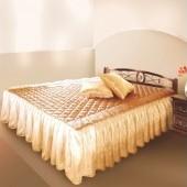 Простынь уголками с воланом  размер спального места  90 *190   хлопок