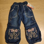 Новые джинсы на флисе , 2-4 года