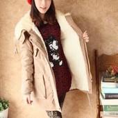 Зимняя  куртка- парка, меховая подкладка, ПОГ 63 см..