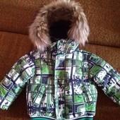 Зимний костюм для мальчика на рост до 95 см.