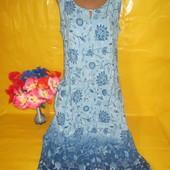 Очень красивое женское платье Berkertex (беркертекс) рр 16  грудь 52 см  100% вискоза  !!!!!!!!!!