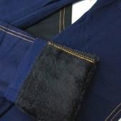 Новые зимние лосины на МЕХу в стиле джинсов, синие джеггинсы 44-50 размер, рост до170см