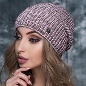 Теплые вязаные шапочки на флисе Читать описание