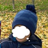 Комплект на мальчика. Шапка шарф 3-5 лет. Обьем 52-54 см.