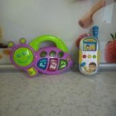 Шикарный музыкальный детский лот!2 в 1!Муз.оса+муз.умный телефон!