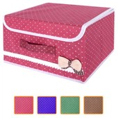 """Последний!Ящик ПВХ для хранения вещей """"Бантик"""" цвет-вишневый, 25.5*20*15.5см"""