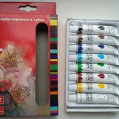 Новые Краски акриловые в тубах, 8 цветов по 12 мл Качество!! Цвета красивые,яркие и насыщенные