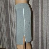 Мягкая юбка карандаш с лампасами . В идеале!