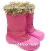Новые непромокаемые утепленные розовые женские сапожки,р.38