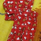 примарк фланелевая пижама без нюансов   1-2 года