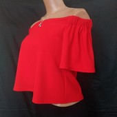 Яркая красная укороченная кофточка-топ от New Look,6р(xs,s),без следов носки!