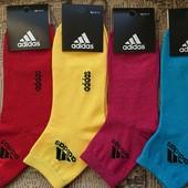 Женские носки «Adidas», размер 36-41, в лоте 5 пар.