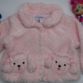 Деми шубка. пальто 18-24мес Fuzzy Wear
