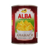 Ананас кусочками ТМ Alba Food в сиропе 580 мл