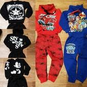 Успейте!!! Последние размеры. Крутые утеплённые костюмы для маленьких модников.