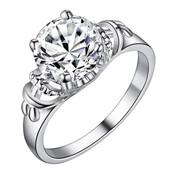 Шикарное кольцо с пробой 925 серебра и цирконием