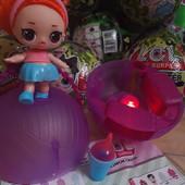 """Супер новинка! Кукла Lol surprise """"Милитари хаки"""" hair goals с реальными волосами, в шаре! Свет!"""