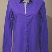 Распродажа!..Яркая молодежная рубашка на весну...Стрейч...Приталена...р 48...Удлиненная спинка