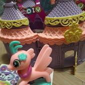 """Новинка! Милашка- пони """"My little horse"""" в раскладн.домике-сумочке с наклейками и элементами декора!"""