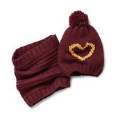 Комплект !Вязаная шапка  с сердечком + снуд  ТСМ Чибо германия  размер универсальный