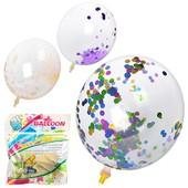 Большой шар который не нужно завязывать с мишурой 12 дюймов (30см). В лоте  2 штучк!Дети в восторге.