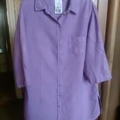 Рубашка-туника. Большой размер Лен 100%
