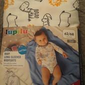 Бодик для малыша ,эко хлопок 2 шт. в упаковке! Lupilu размер 62-68,смотрим мерки,большимерит