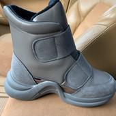 Шикарные ботинки-сникерсы, утепленные