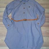 Стоп!Шикарное платье рубашка H&M  с пояском в отличном состоянии