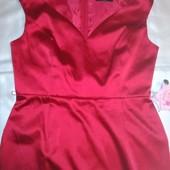 Нарядное красное платье от George 14р, см замеры и описание! не секонд