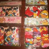 Яркие трусики для девочек 3шт. в уп. AngryBirds,Winx 7-8л
