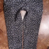 новые текстурные зауженные брюки Zara Турция указан Л пояс 41 поб 51
