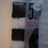 Трусики Primark 38/40 M 100% коттон  лот упаковка 4 шт замеры в описании