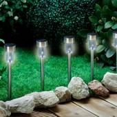 Фонари садовые на солнечной батарее из нержавеющей стали! Упаковка 5шт!