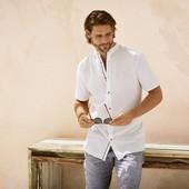 Шикарная рубашка лен+хлопок Livergy