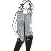 Нежная шифоновая блузка  Helene Fischer от ТСМ чибо германия размер 36 евро=42-44