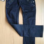 Качественные зауженные джинсы. Благородный синий цвет. Бренд Lady N jeans. Натуральные.