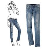 Эффектные джинсы, моделирующие фигуру, Tchibo(германия), размер 42 евро=48