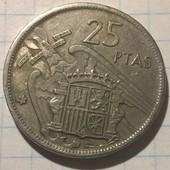 Монета Испании 25 песет 1957