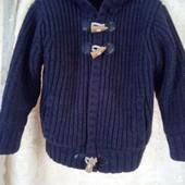 Вязанная кофта-куртка на меху  George. весна-осень на 4-5лет.