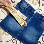 Стрейтчевая джинсовая юбка р. 98/104 Young dimension!
