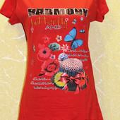 Женские футболки туники Турция, 100% котон. M,L,XL