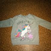 свитер Единорожка на 1,5-2 года